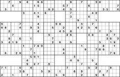 Free Samurai Sudoku Puzzles Printable