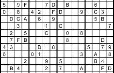 16×16 Printable Sudoku Puzzles