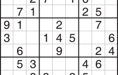 Free Printable Sudoku For Beginners
