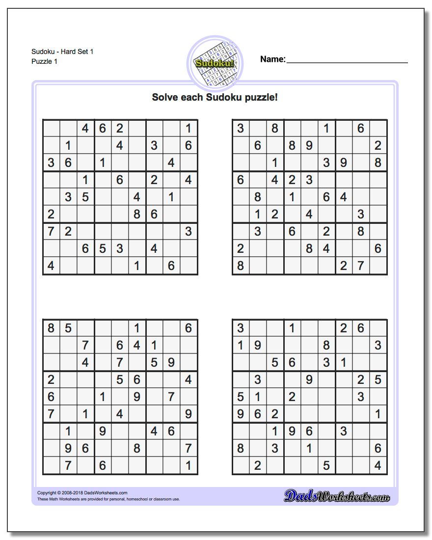 Printable Sudoku Puzzle | Room Surf