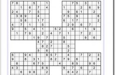Samurai Sudoku Printable Medium