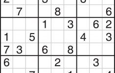 Number Sudoku Printable
