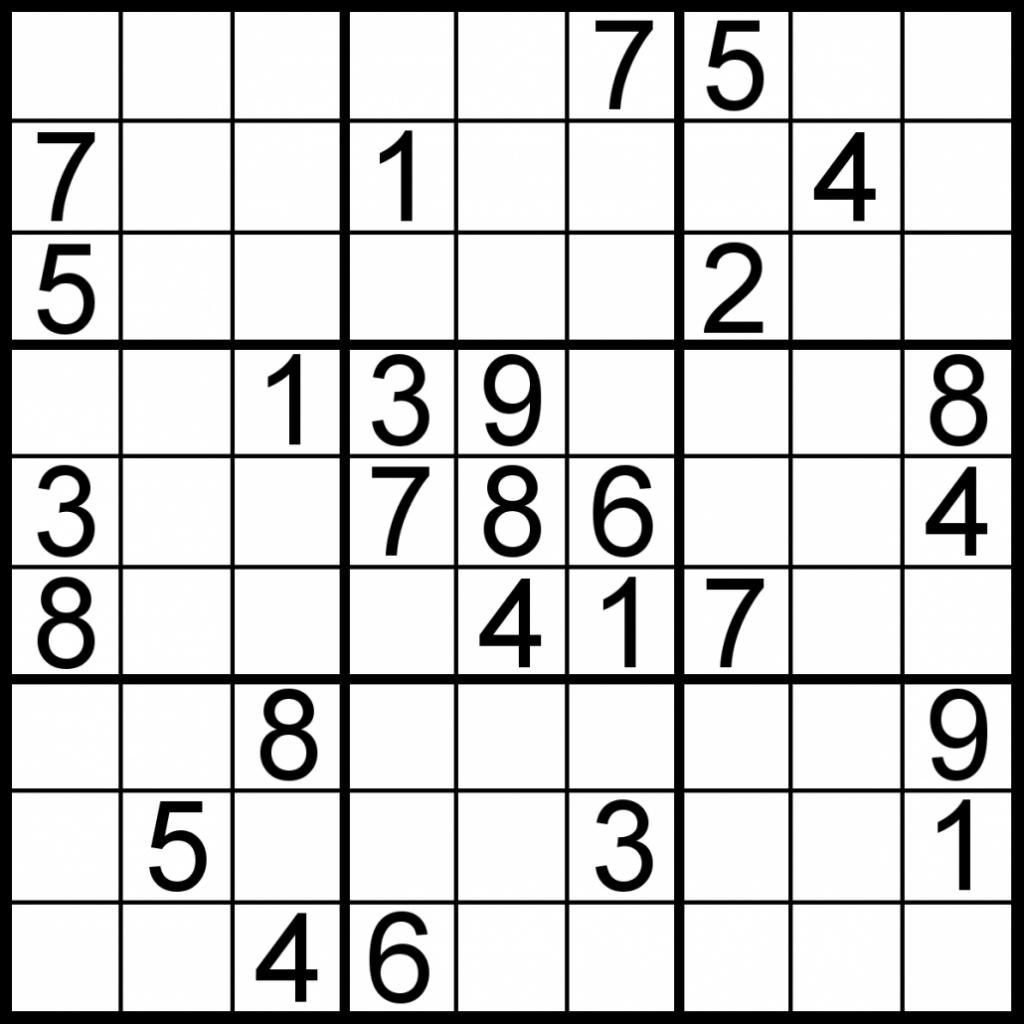 Printable Sudoku Worksheet   Printable Worksheets And