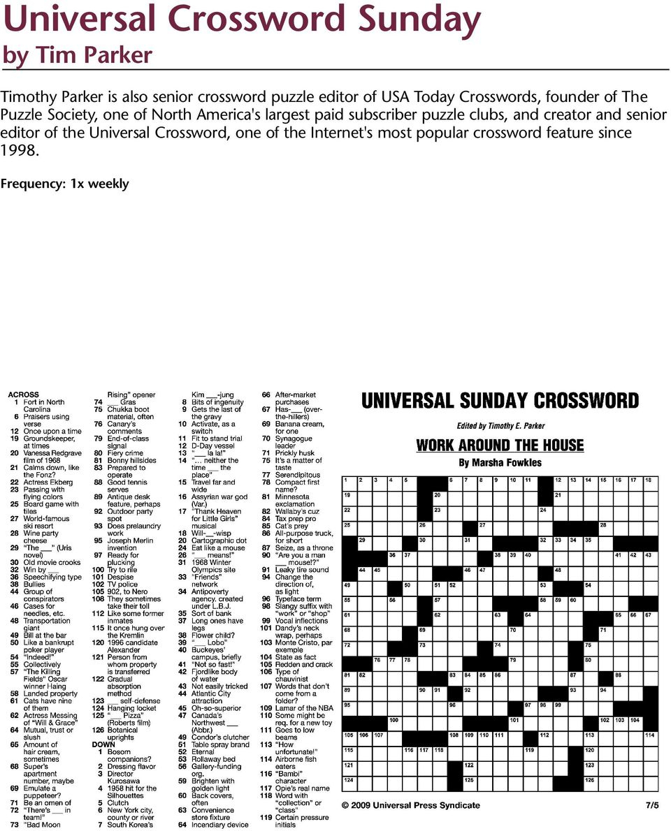 Puzzles And Games From Universal Press Syndicate - Pdf Free