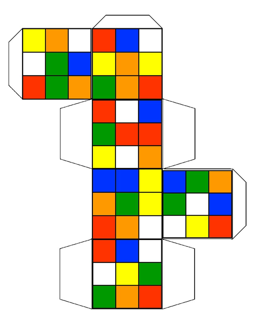 Rubik's Cube Template - Google Search | Cube Template, Rubix