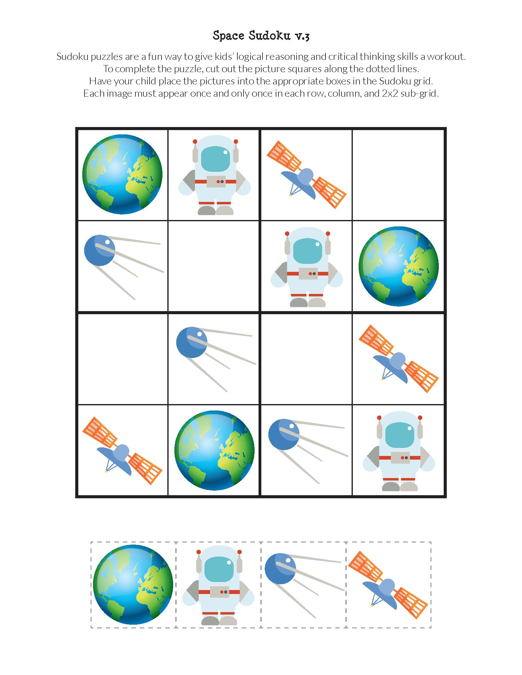Space Sudoku Puzzles {Free Printables} | Sudoku Puzzles