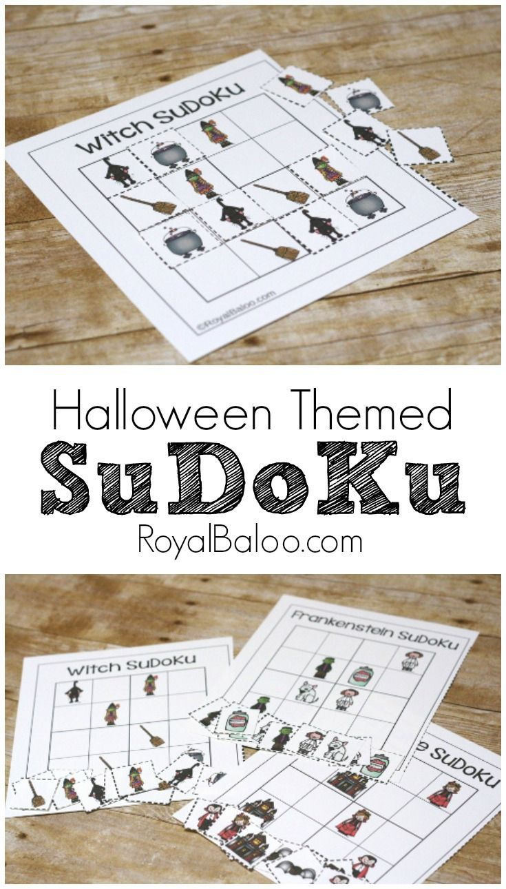 Spooky Halloween Sudoku Free Printable For Kids | Activities
