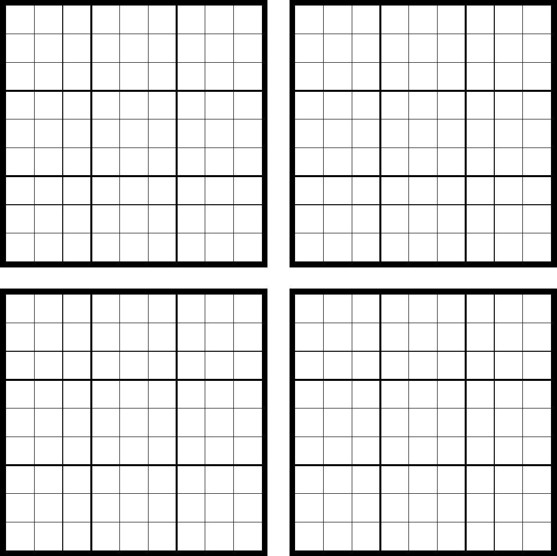 Sudoku Blank | Print Calendar, Sudoku, Dying My Hair