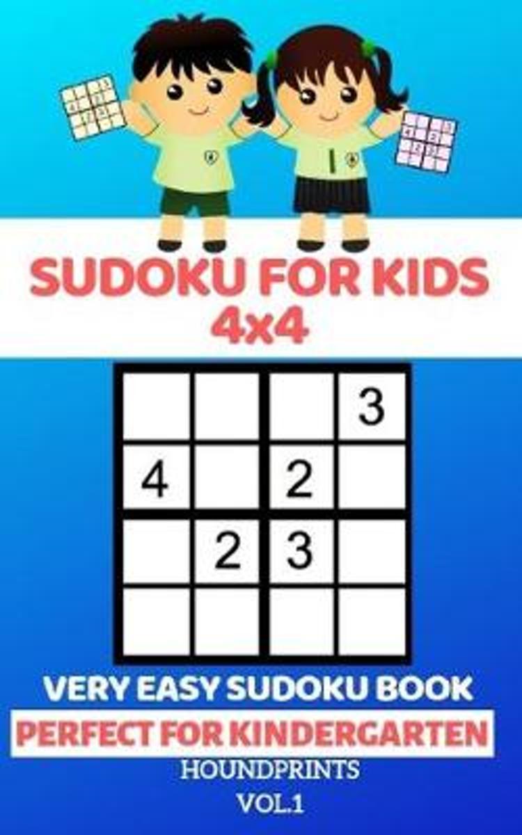Sudoku For Kids 4X4: Very Easy Sudoku Book (Perfect For Kindergarten) Vol.1