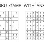 Sudoku Game With Answer. Vector Puzzle Game With Numbers For..