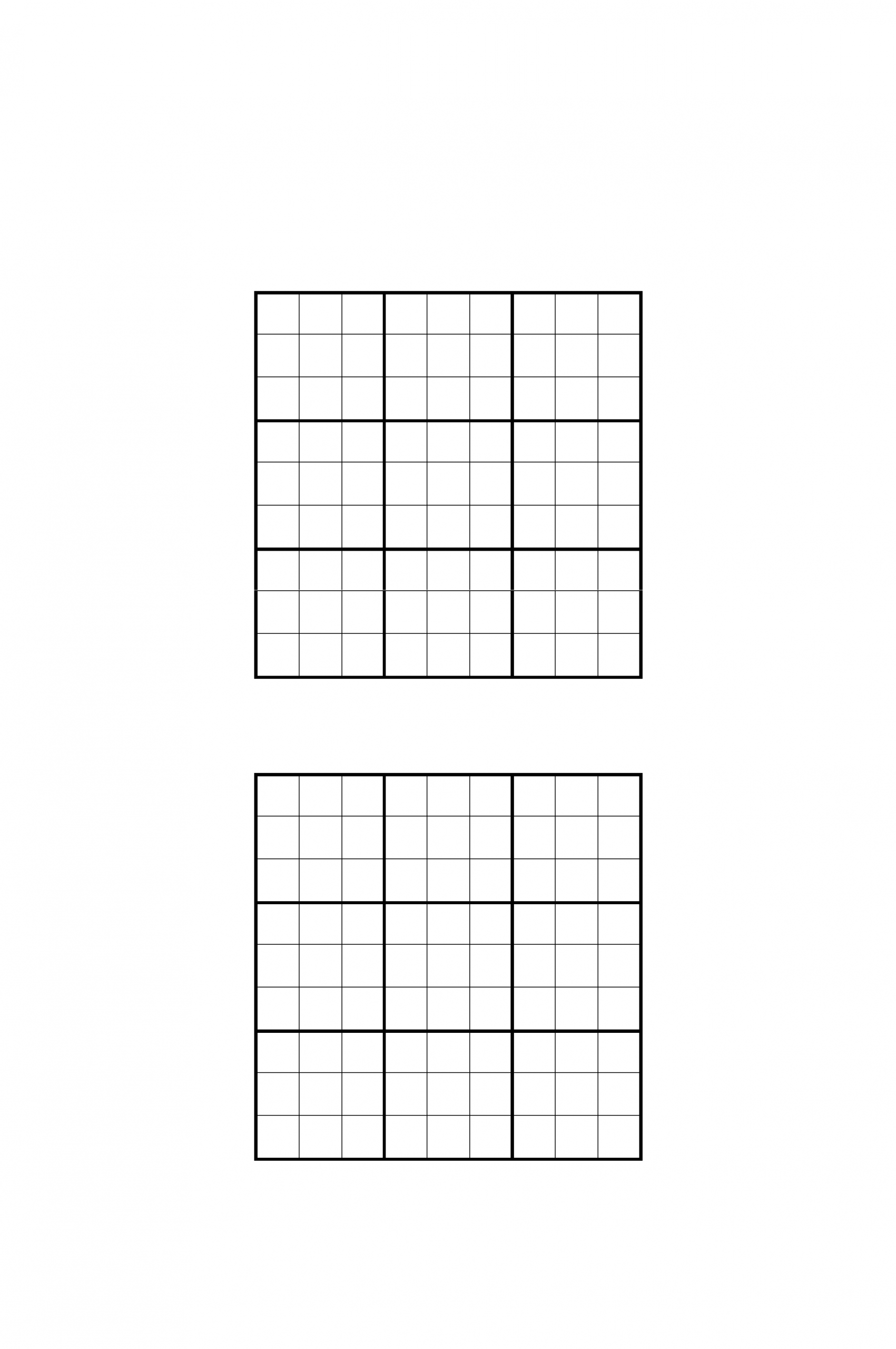 Sudoku Grids Template Free Download