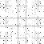 Sudoku High Fives Hard   Sudoku Printable, Sudoku, Sudoku
