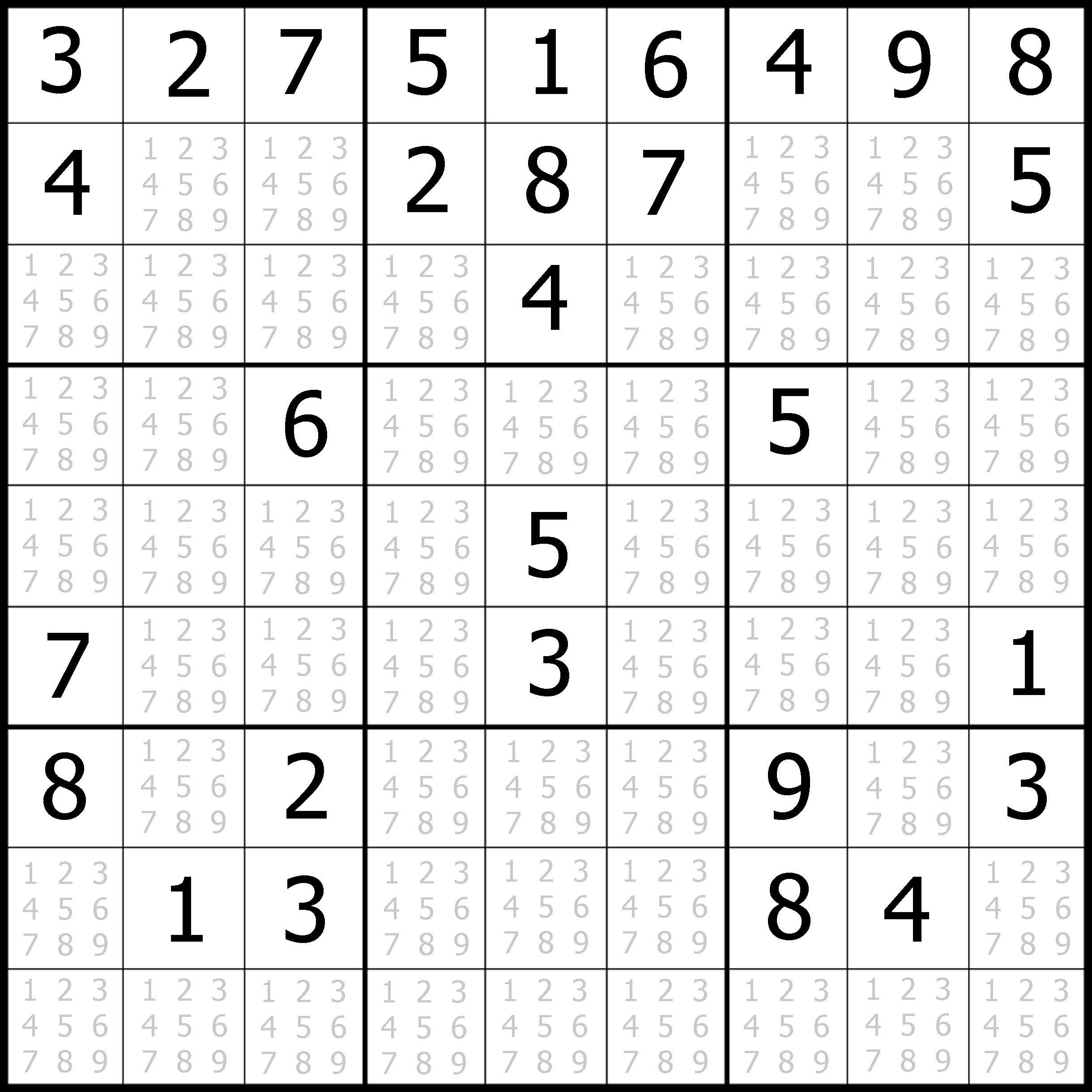 Sudoku Printable | Free, Medium, Printable Sudoku Puzzle #1