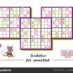 Sudoku Puzzle Big Size Difficult Level Logic Game Children