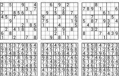 Answers To Sudoku Printables