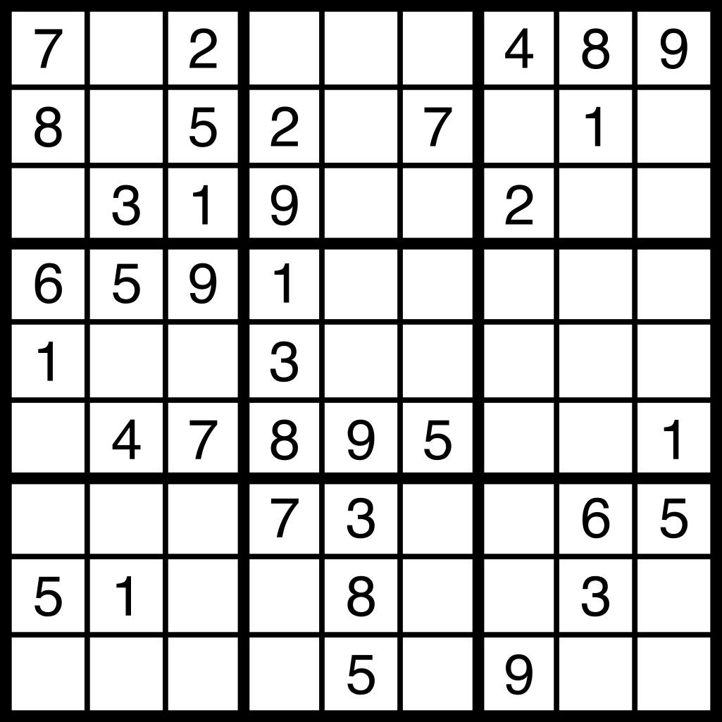 Sudoku Puzzle ~ November 7Th, 2015 - Gateway Gazette