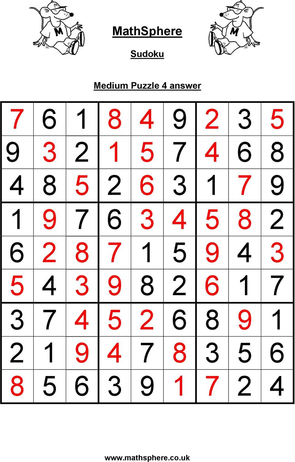 Sudoku Puzzles: Medium - Pdf Free Download