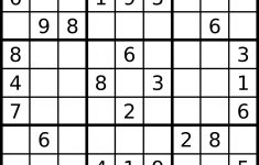 Free Online Easy Sudoku Printable