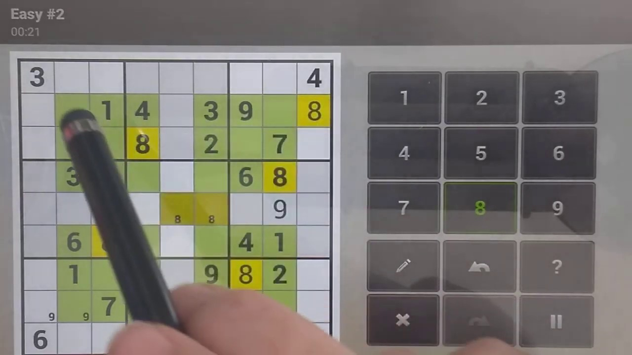 Sudoku Solver - Completing Square Sudoku Easy To Do #2
