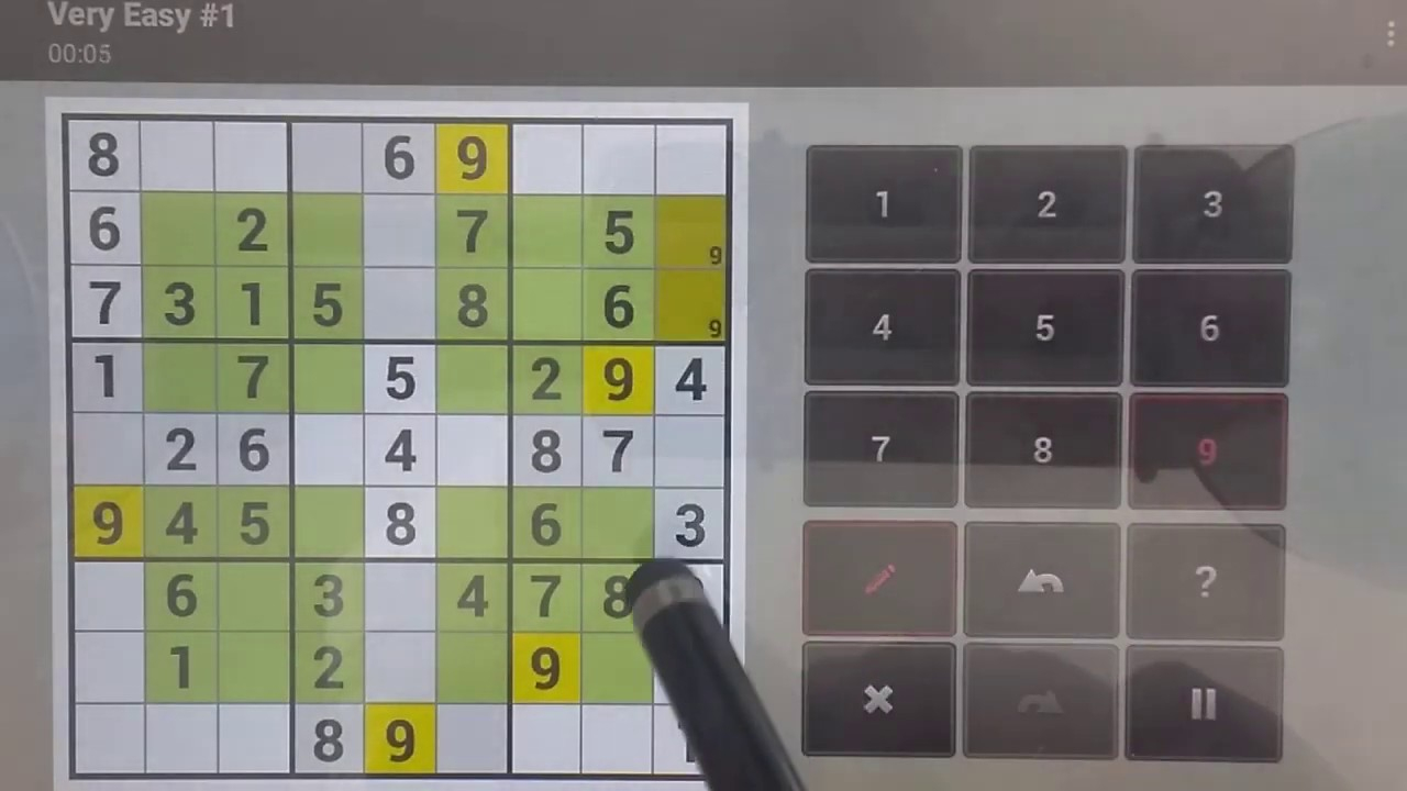 Sudoku Solver -How To Solve Hyper Sudoku Very Easy #1