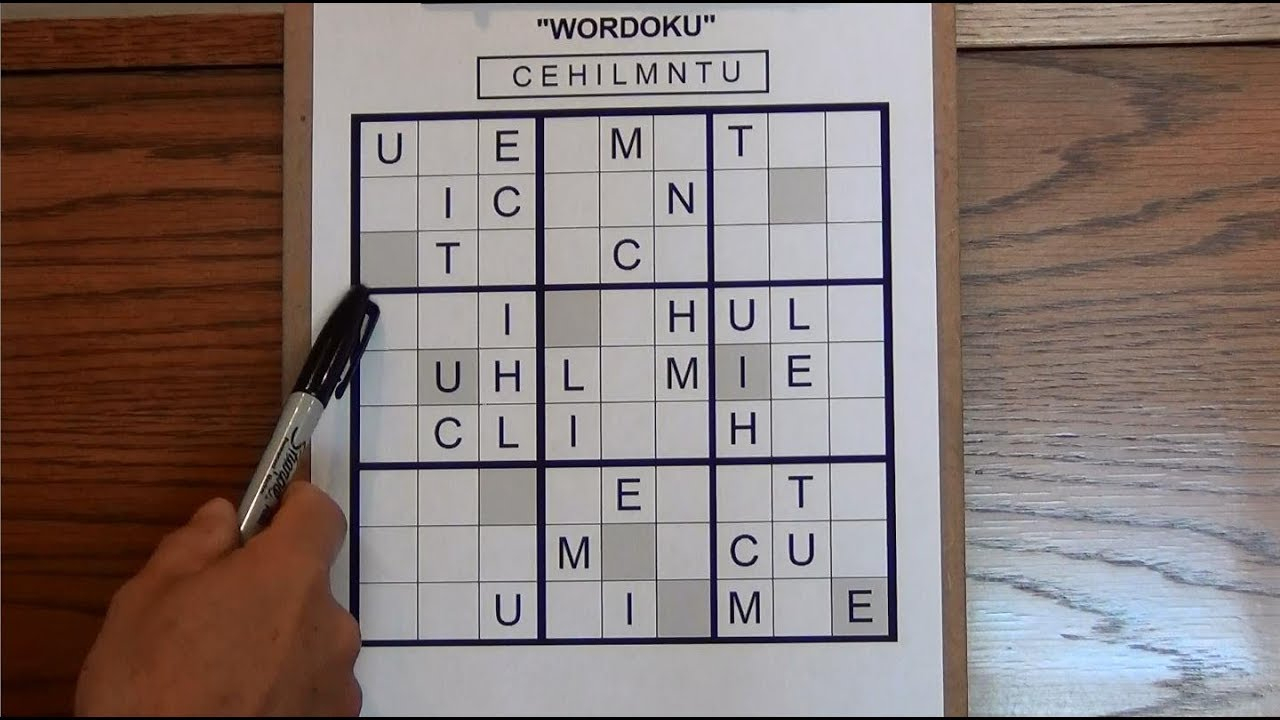 Sudoku - Wordoku Puzzle With Letters