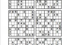 4 Printable Sudoku Per Page