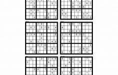 Sudoku Blank Printable Grids 4 Per Page