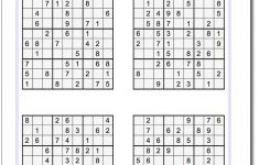 Free Printable Sudoku 6 Per Page With Answers