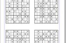 Printable Sudoku Hard 4 Per Page