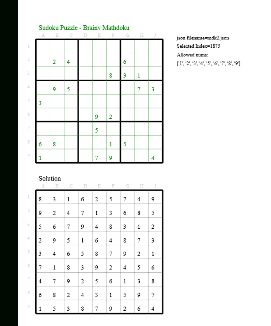 Today's Sudokubrainy Mathdoku | Sudoku Puzzles, New