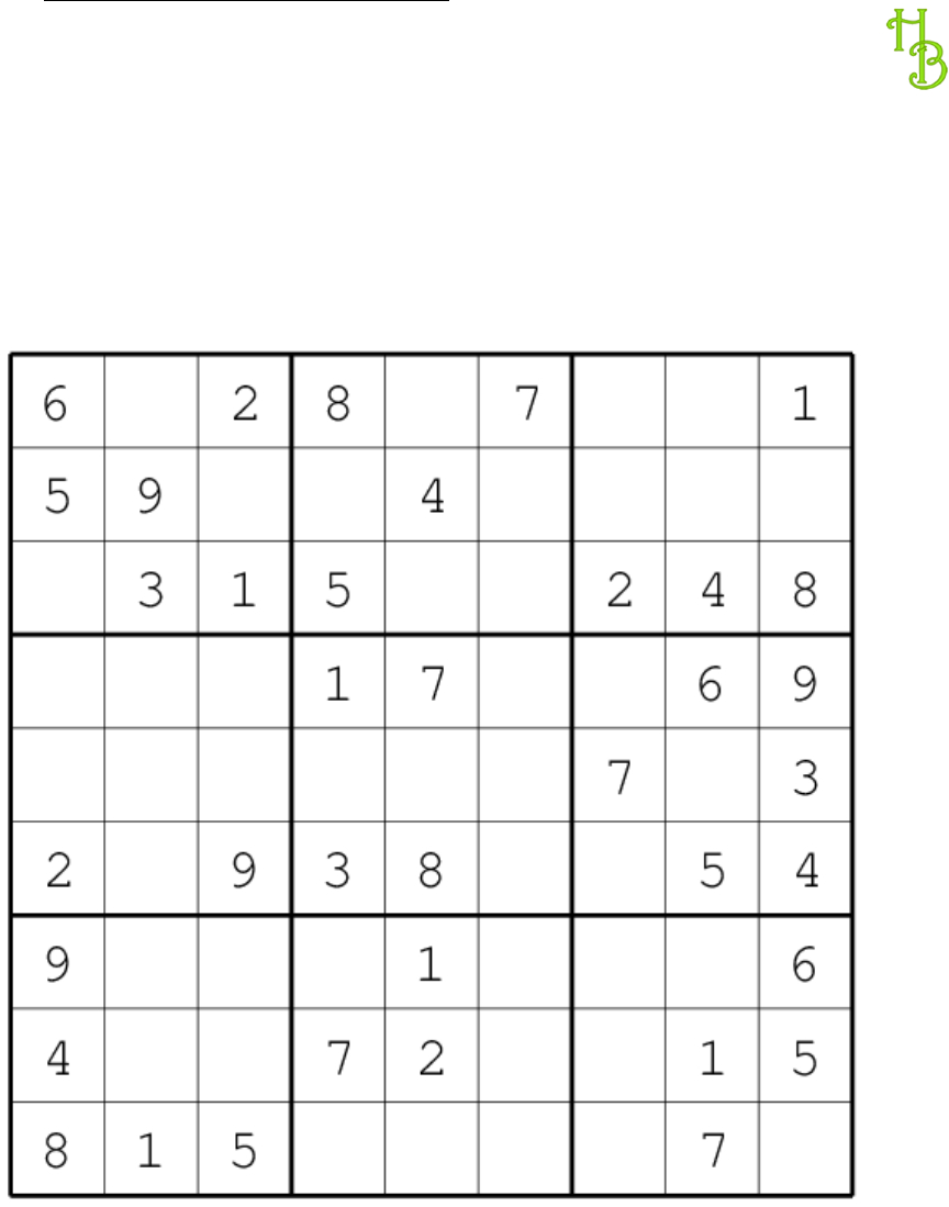 Variety Of Sudoku Puzzles Pkt With Answers - [Pdf Document]