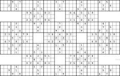 Samurai Sudoku Medium Printable