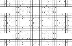 Printable Samurai Jigsaw Sudoku