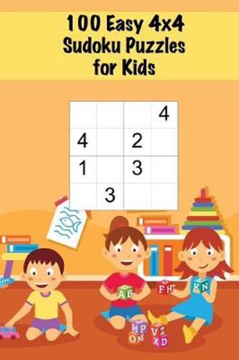 100 Easy 4X4 Sudoku Puzzles For Kids