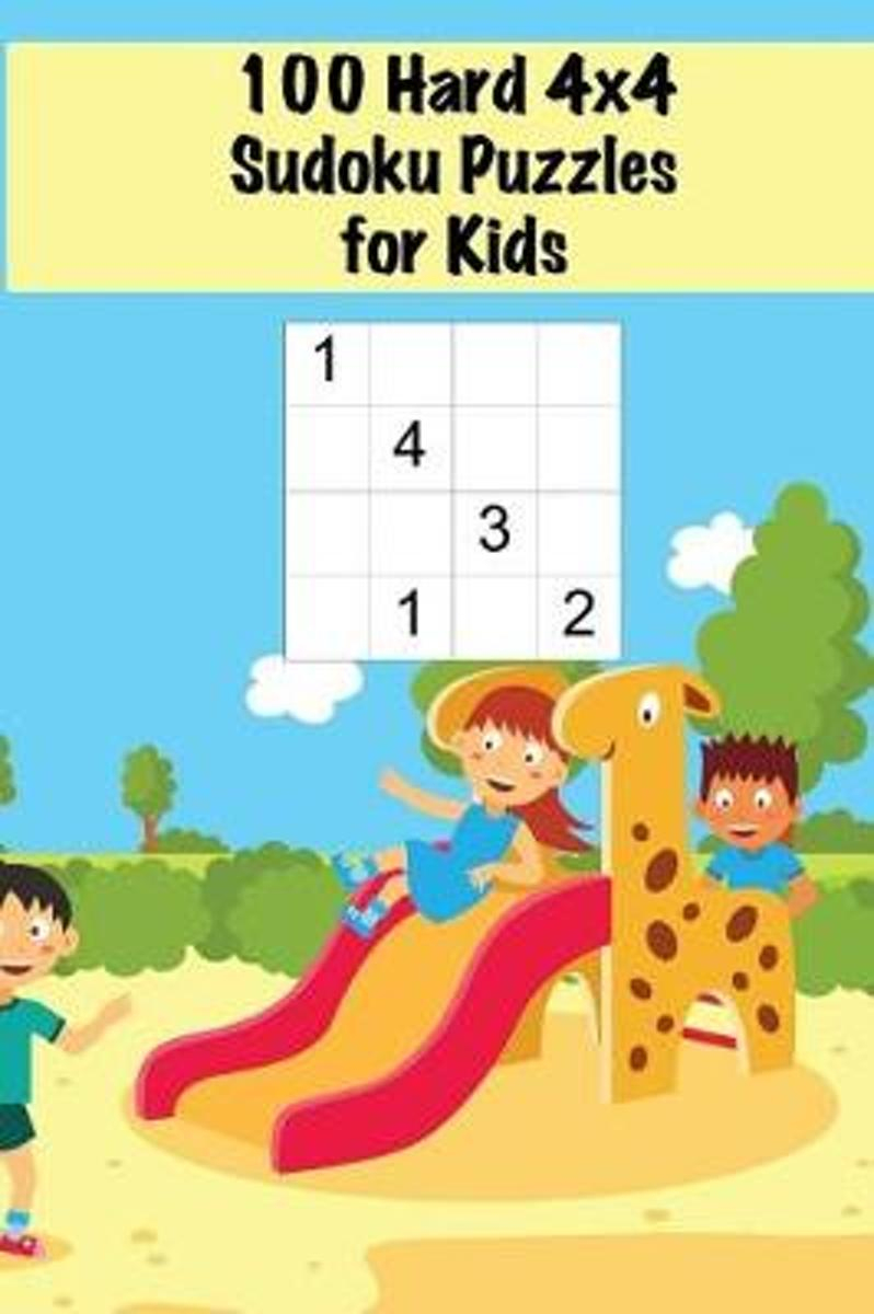 100 Hard 4X4 Sudoku Puzzles For Kids