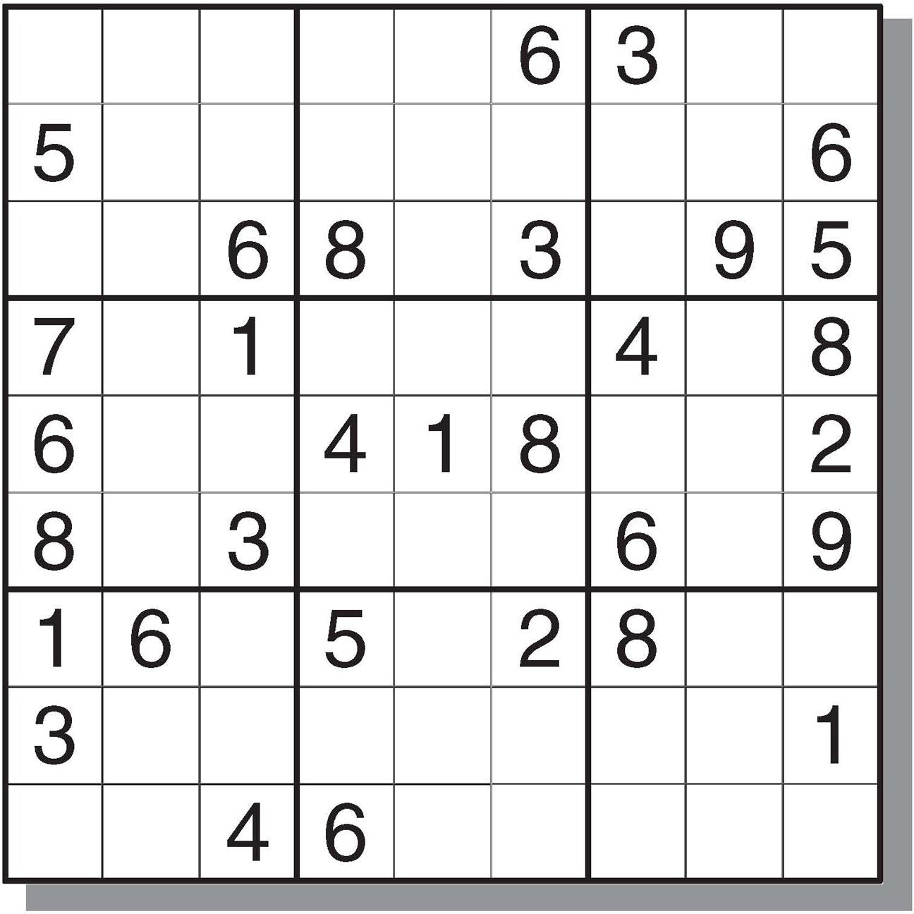 4 Best Images Of Free Medium Printable Sudoku - Sudoku