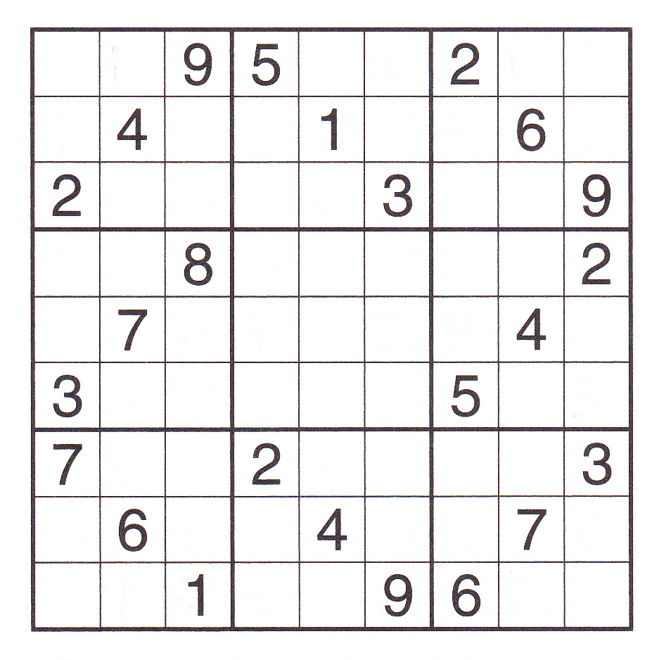 5 Best Images Of Printable Sudoku Puzzles To Print