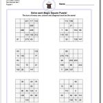 5X5 Magic Square Puzzles | Magic Squares, Free Printable