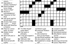 8 Best Images Of Printable Crossword Puzzles For Adults