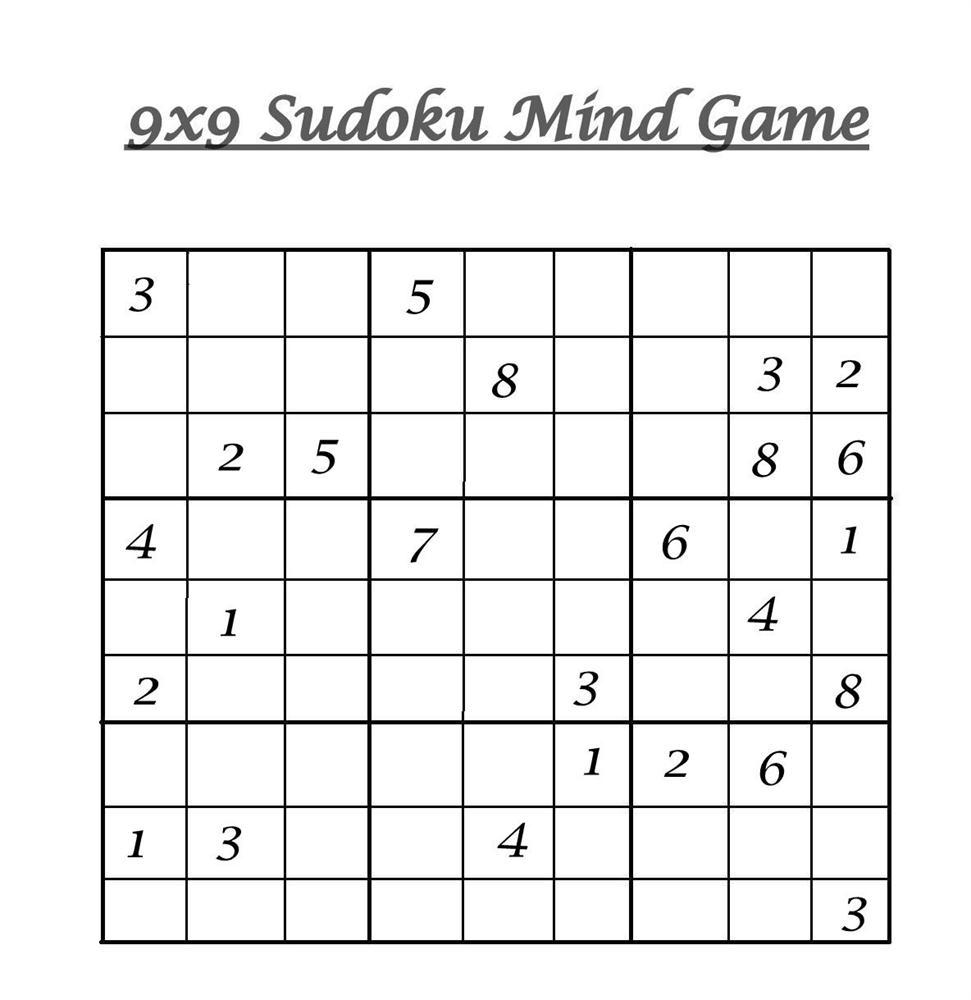 9X9 Sudoku 8