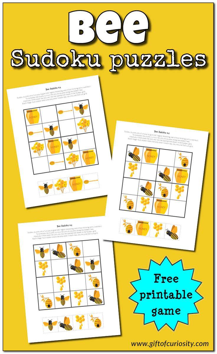 Bee Sudoku {Free Printable} - Educatieve Spelletjes, Bijen