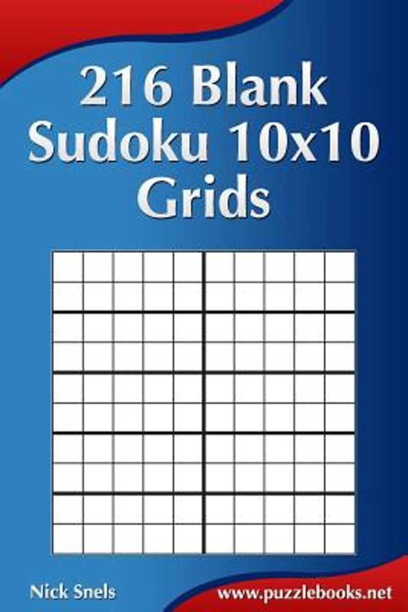 Bol | 216 Blank Sudoku 10X10 Grids, Nick Snels