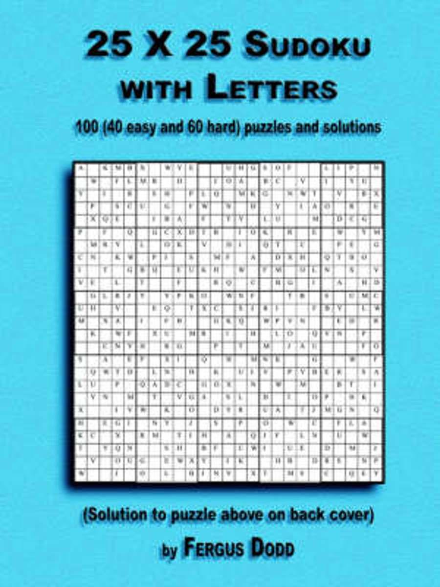 Bol | 25 X 25 Sudoku With Letters, Fergus Dodd