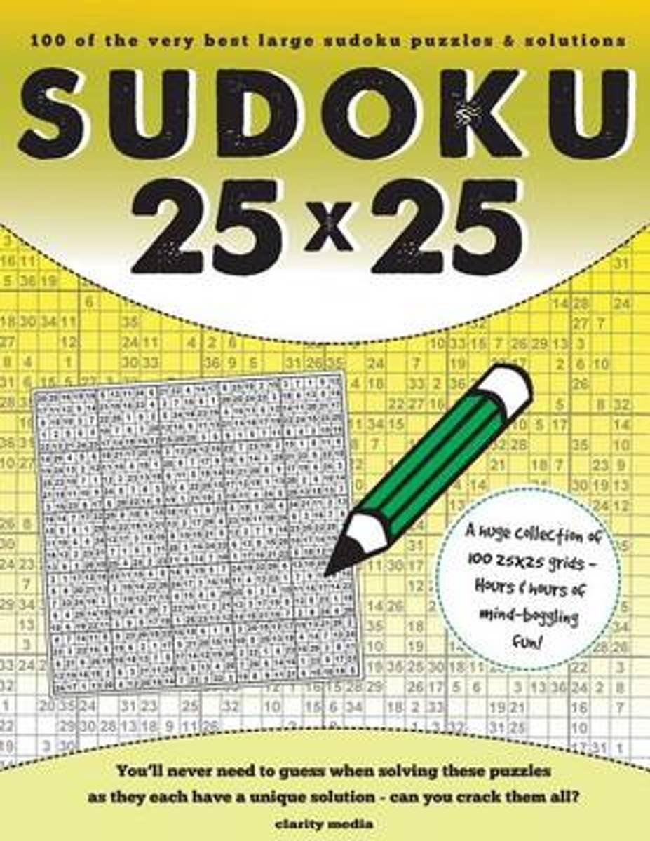 Bol | 25X25 Sudoku | 9781517100490 | Clarity Media | Boeken