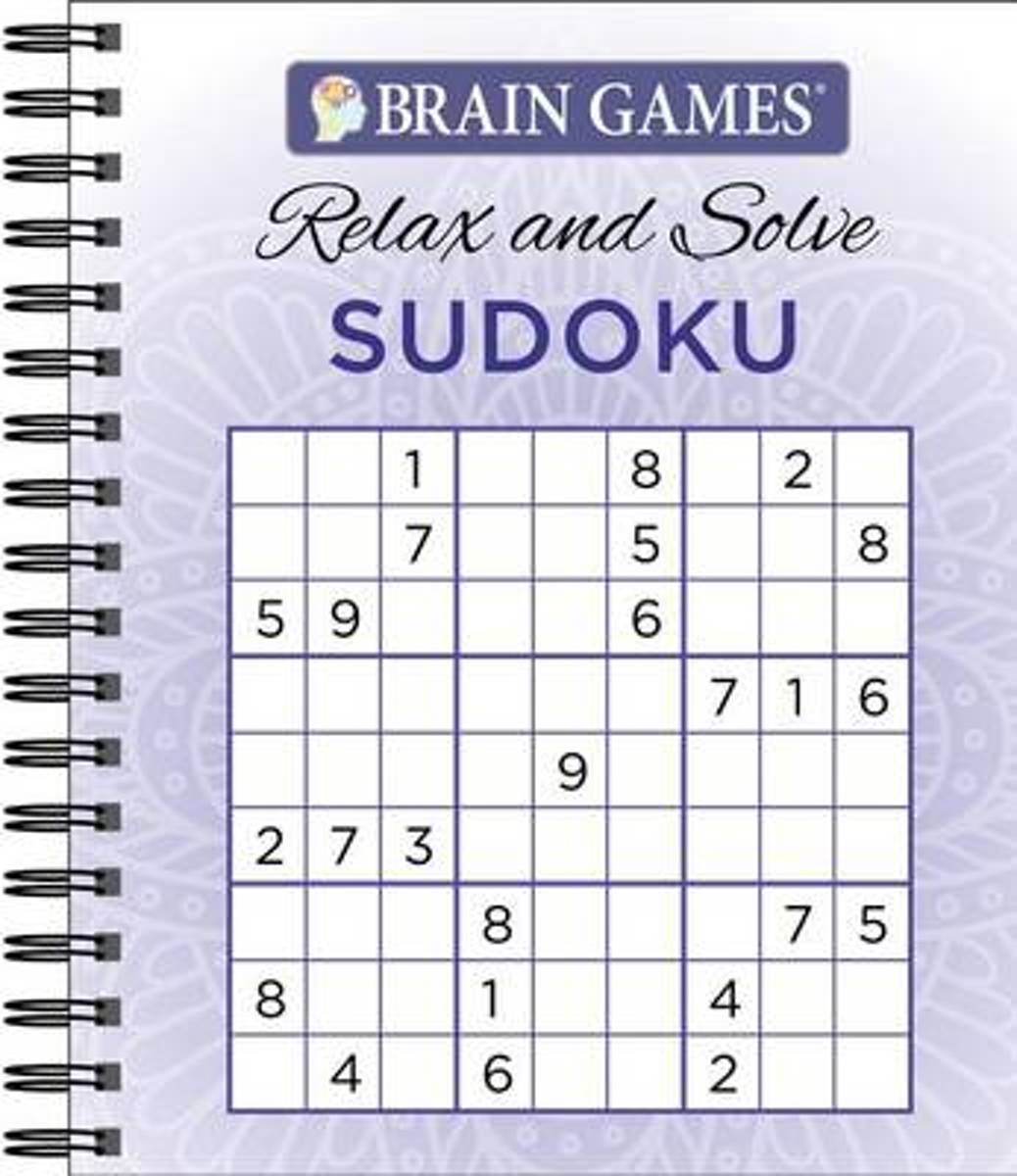 Bol | Brain Games Relax N Solve Sudoku Puzzles