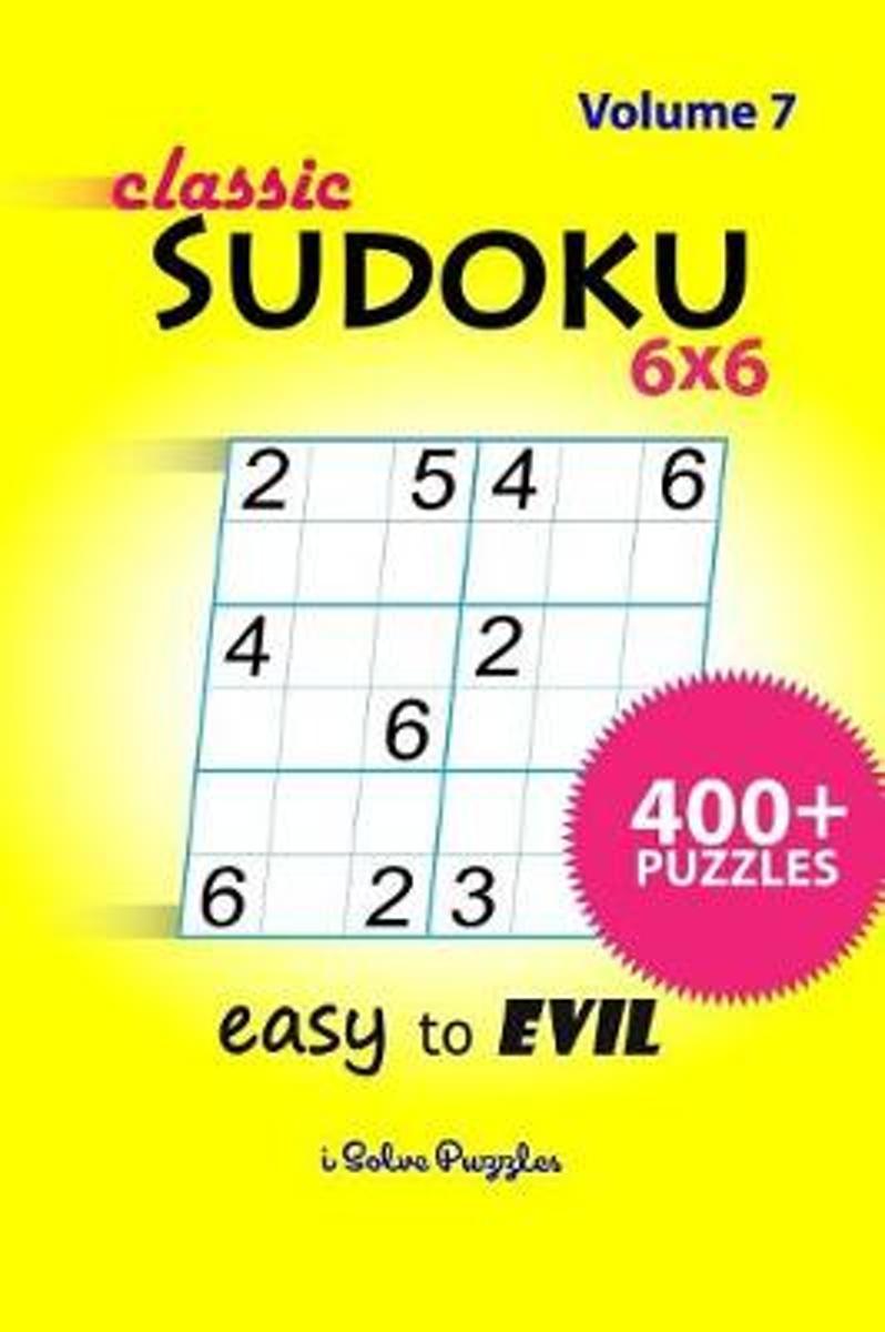 Bol | Classic Sudoku 6X6 Easy To Evil, Isolvepuzzles