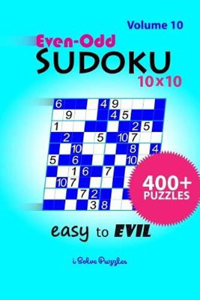 Bol | Even-Odd Sudoku 10X10 Easy To Evil, Isolvepuzzles