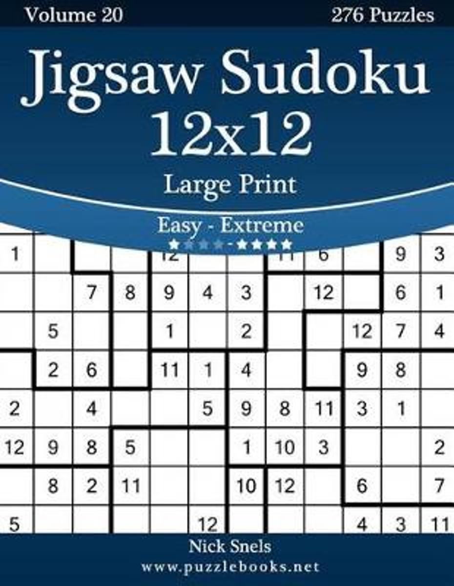 Bol | Jigsaw Sudoku 12X12 Large Print - Easy To Extreme