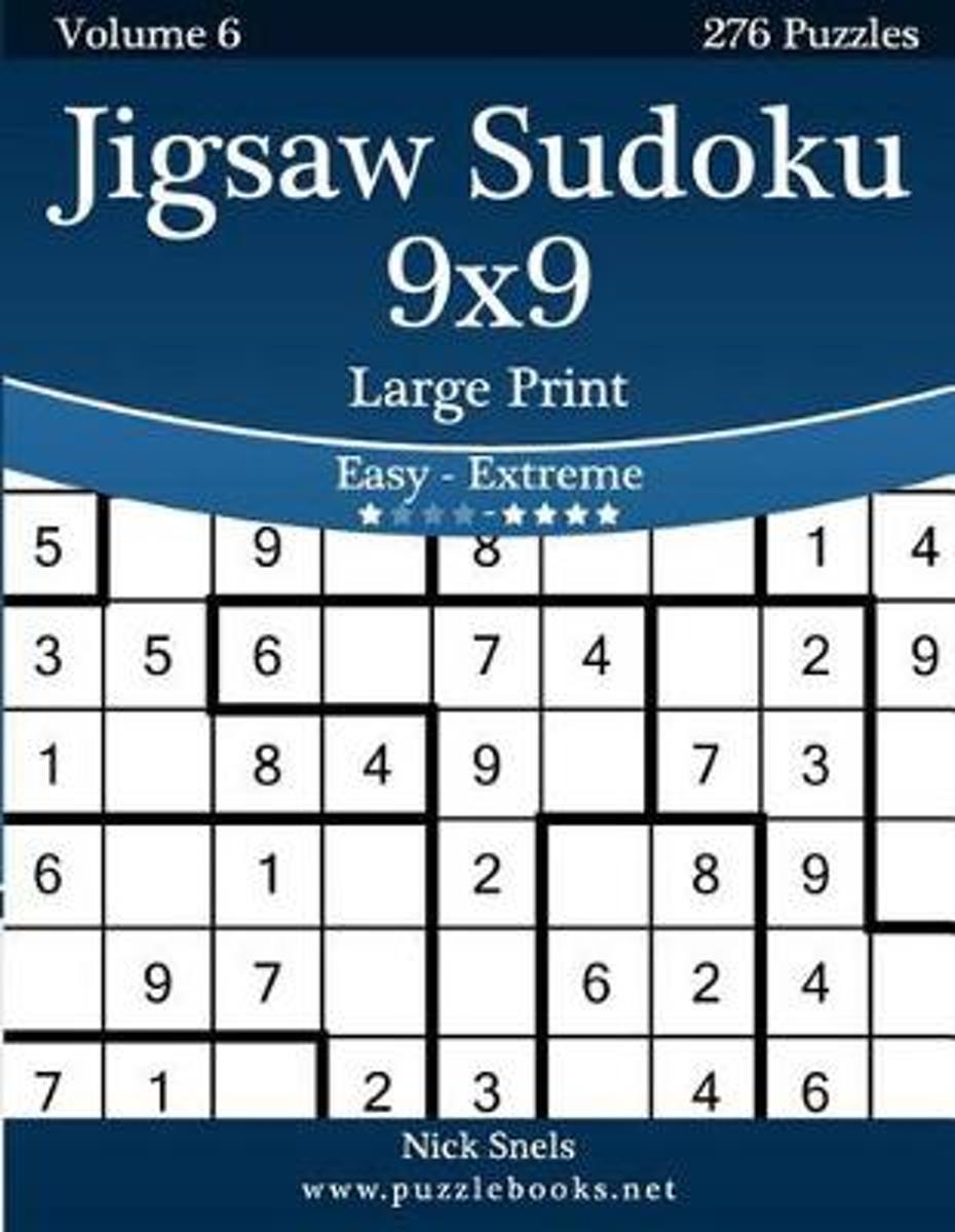Bol | Jigsaw Sudoku 9X9 Large Print - Easy To Extreme