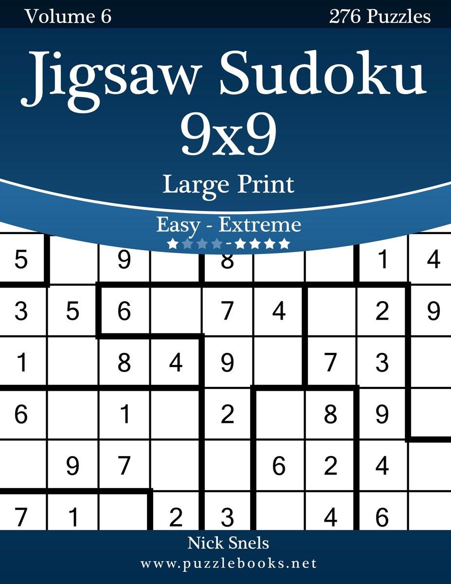 Bol   Jigsaw Sudoku 9X9 Large Print - Easy To Extreme